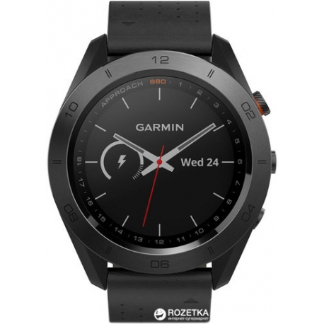 Спортивные часы Garmin Approach S60 Black Premium (010-01702-02)