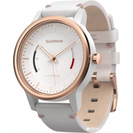 Garmin Vivomove Premium Gold-Tone Steel with Leather Band (010-01597-21)